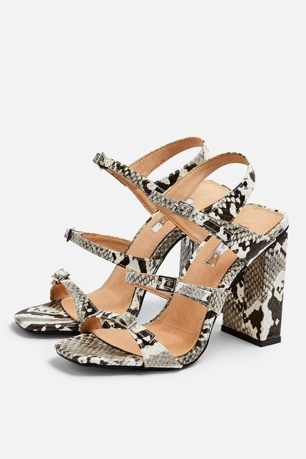 60b9c266dd5 Topshop REPTILE Strappy Sandals   Products in 2019   Strappy sandals ...