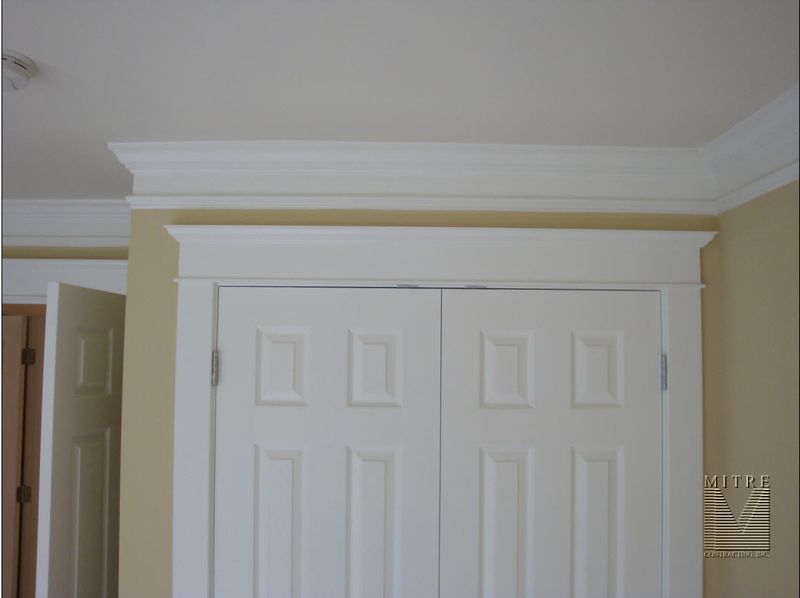 Crown moulding put extra trim spaced below and paint in for Unique interior trim ideas