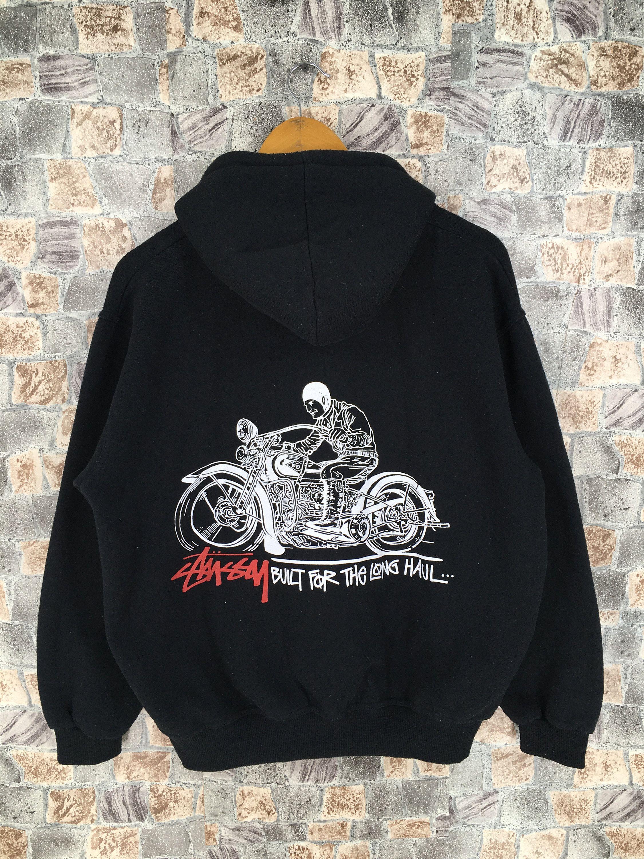 Vintage 90s Stussy crown black tag hoodie shirt long sleeve L