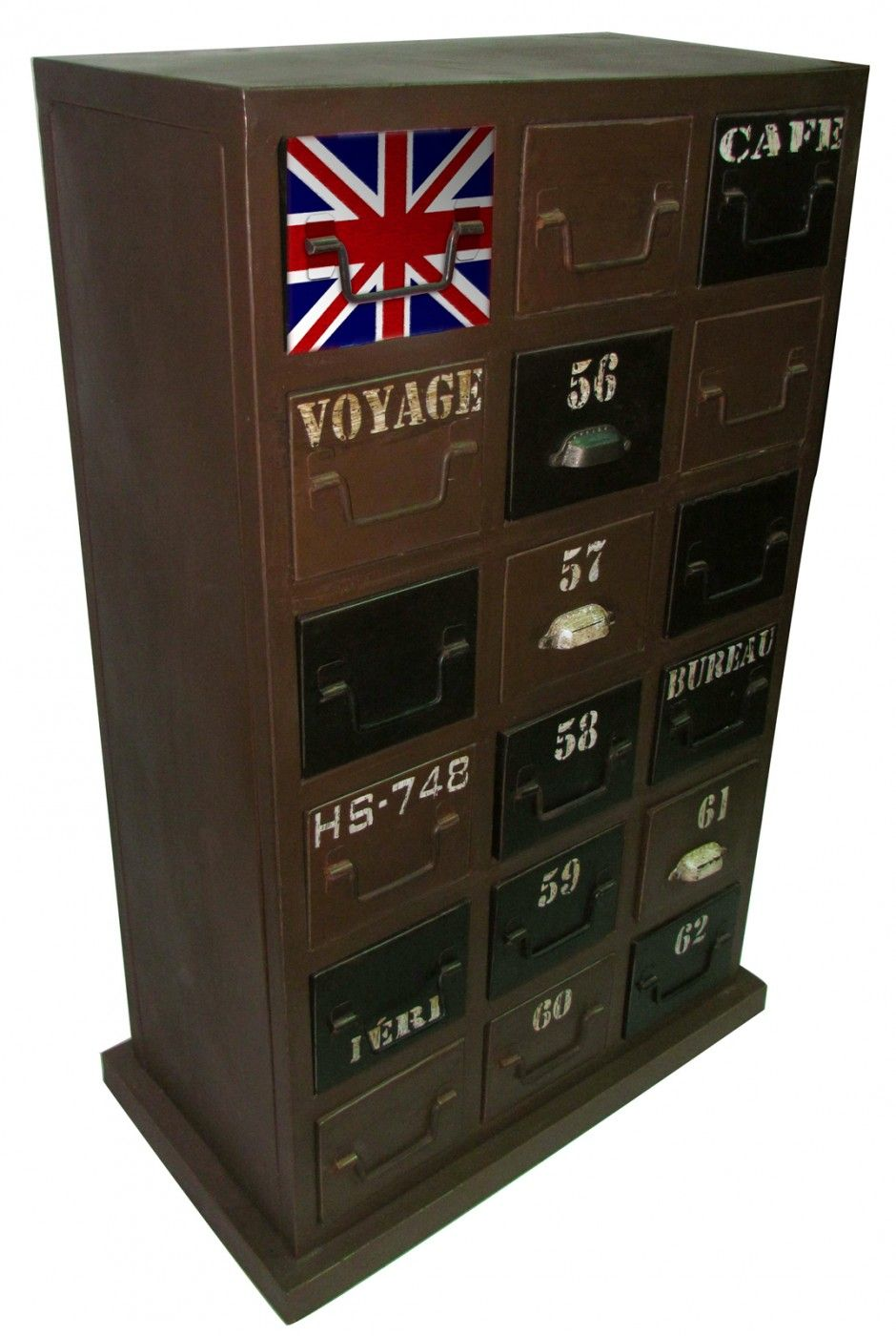 Union Jack and Iron Multi Drawer Chest