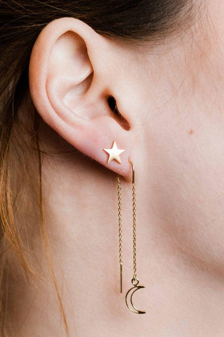 Chain Threaders 925 Sterling Silver Earrings Corona Sun Jewelry