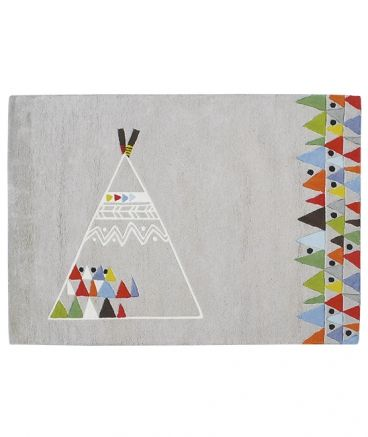 tapis teepee native indian. Black Bedroom Furniture Sets. Home Design Ideas