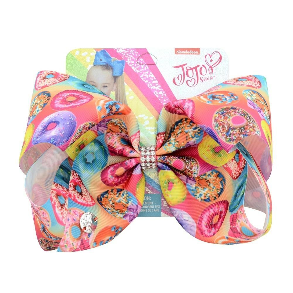"7.5/"" Colorful Sequins Ribbon Dots Printed Hair Bow Hairgrips With Clip For Girls"