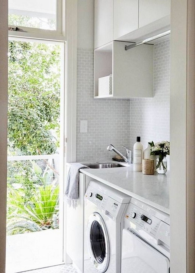 50 modern minimalist laundry room ideas for small space on extraordinary small laundry room design and decorating ideas modest laundry space id=59230