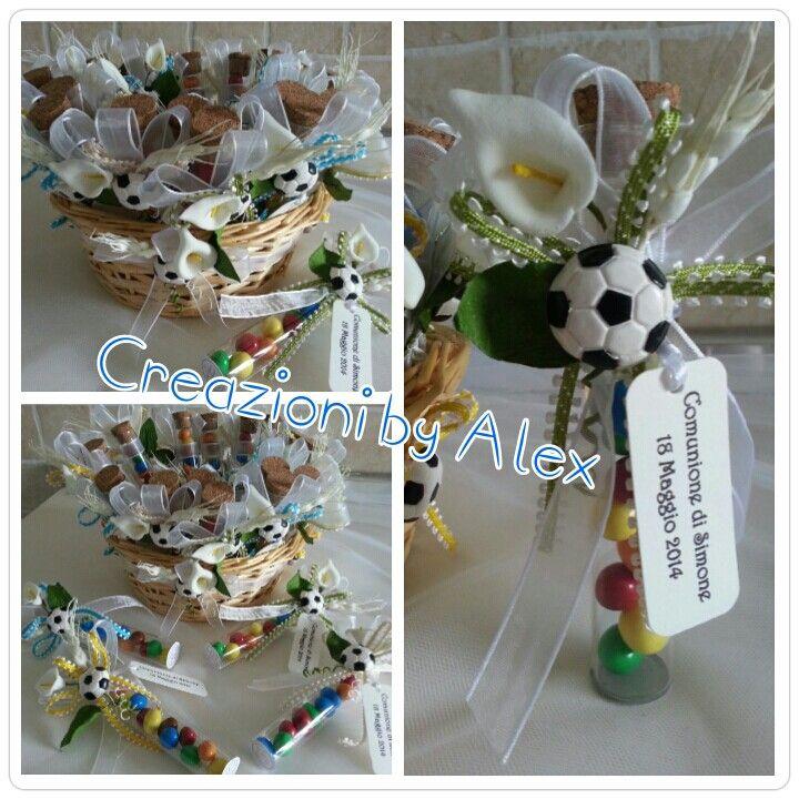 Bomboniere Comunione Per Un Bambino Appassionato Di Calcio Bomboniere Bomboniera Idee Creative