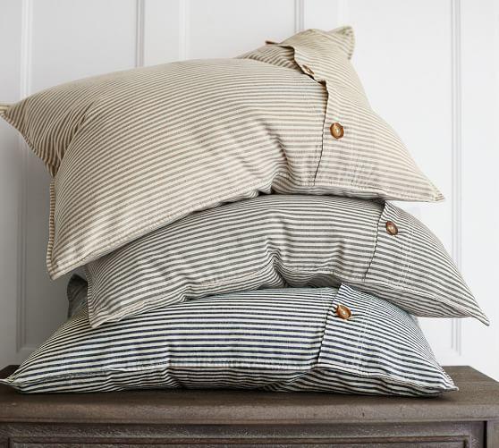 Wheaton Striped Linen Cotton Duvet Cover Striped Duvet Striped Duvet Covers Duvet Bedding