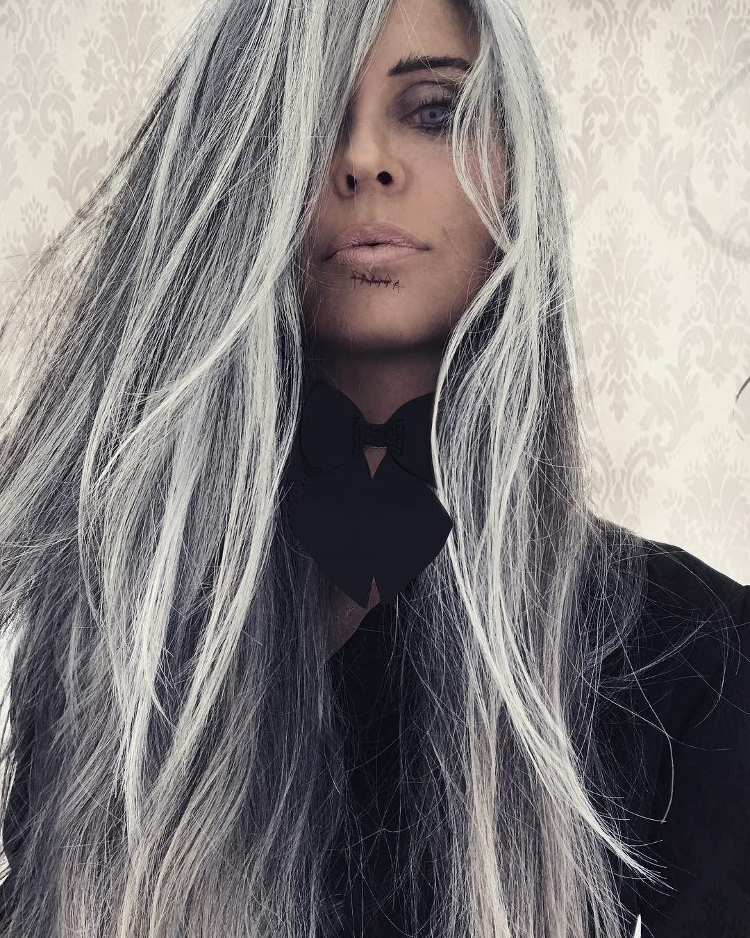 Annika Von Holdt Long Gray Hair Gorgeous Gray Hair Cute766