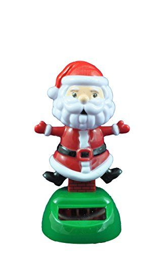 Solar Powered Dancing Santa with List Christmas Holiday Bobble Head Toy