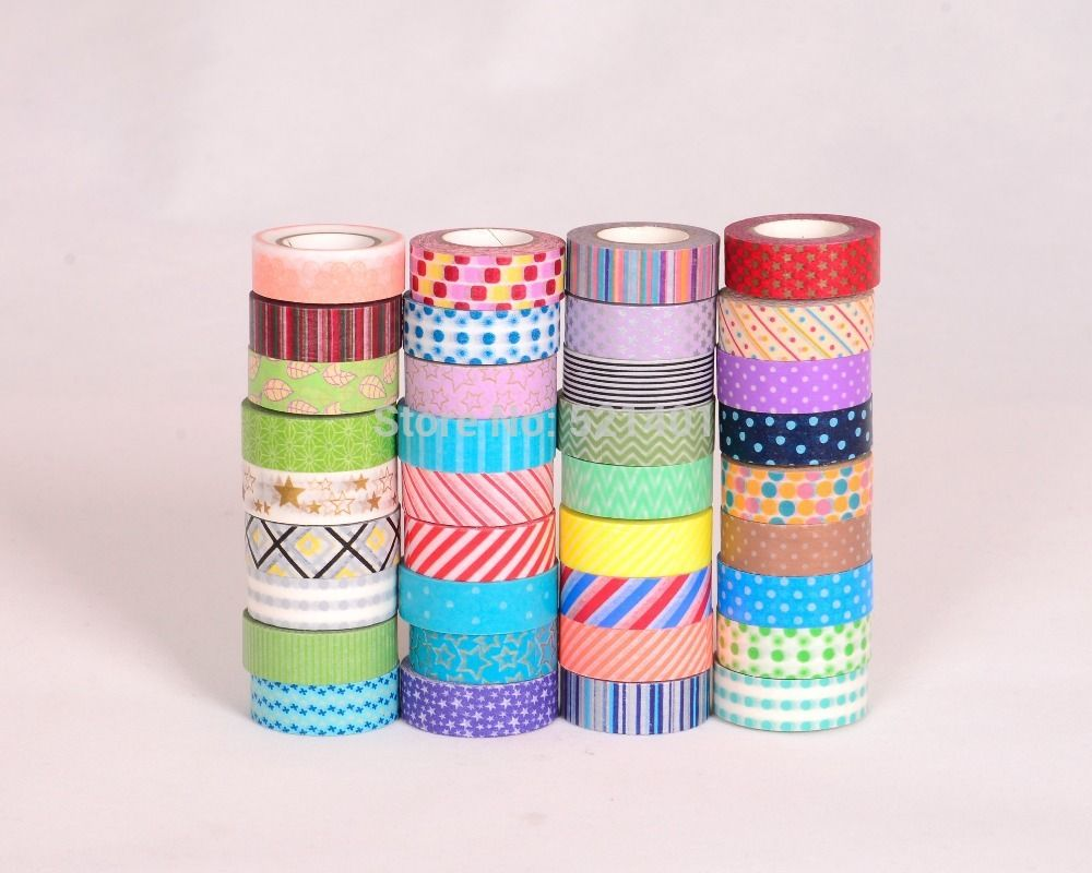 Pas cher scrapbooking washi tapes autocollants transport - Masking tape pas cher ...