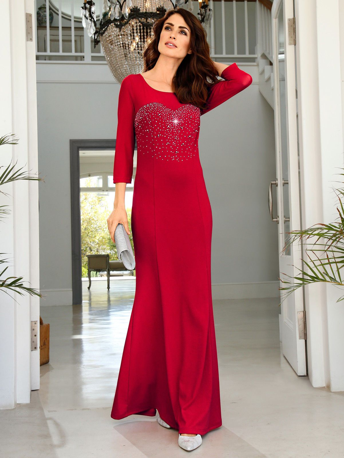 KLiNGEL RundhalsUniFestlich Abendkleid aus Jerseyqualität Neu in