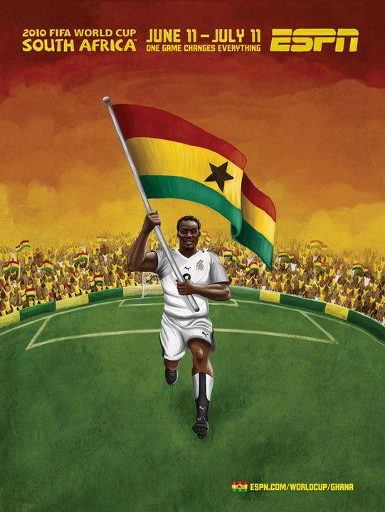 Espn Coupe Du Monde Afrique Du Sud 2010 Ghana Afrique Afrique Du Sud Monde Afrique