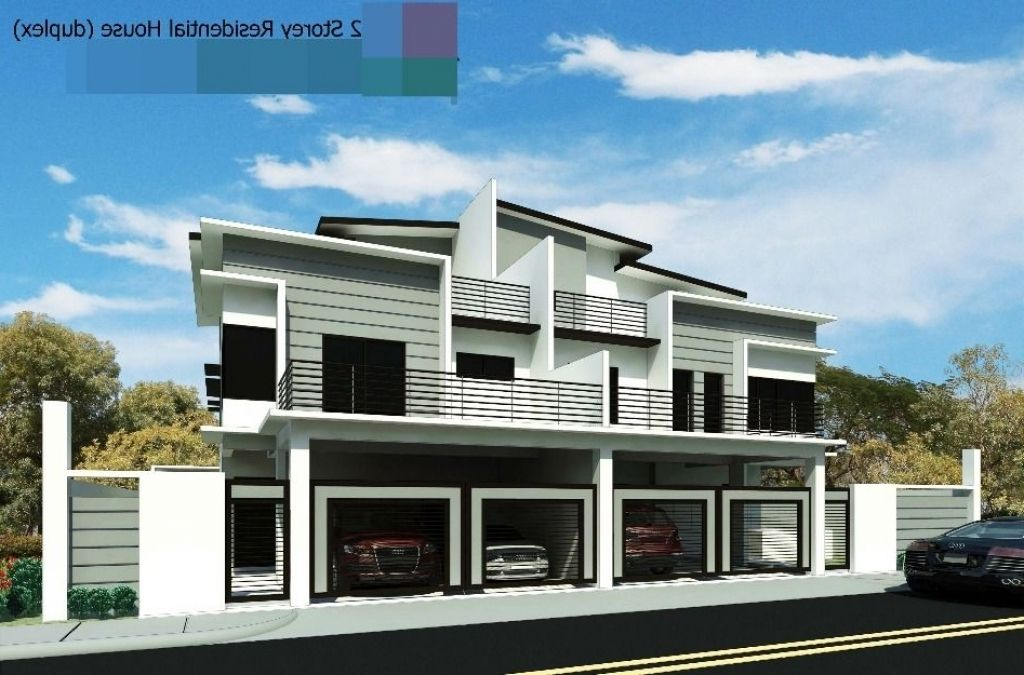 modern zen house design quezon city skilion roof facade garages ...