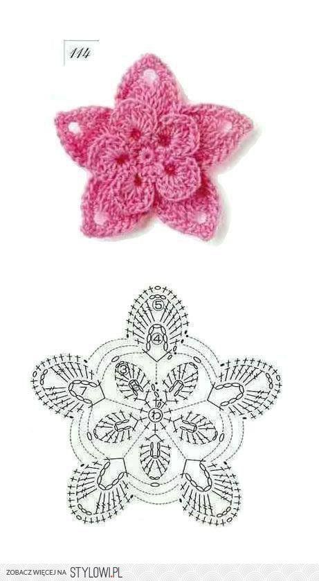 50 Crochet Flowers + Diagrams | Projects to Try | Pinterest ...