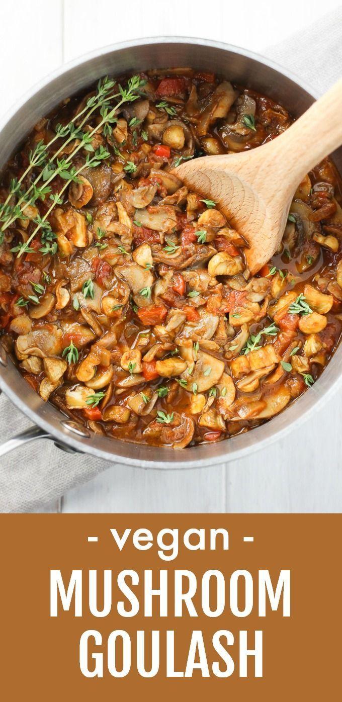 Veganes Pilzgulasch -  Dieses vegane Pilzgulasch macht ein perfektes gesundes Abendessen. Es kann als Spaghetti-Sauce oder - #antiquedecor #apartmentd...#abendessen #als #antiquedecor #apartmentd #dieses #ein #gesundes #kann #macht #oder #perfektes #pilzgulasch #spaghettisauce #vegane #veganes