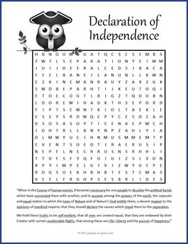 use this fun word search worksheet to introduce or close a lesson on the signing of the u s. Black Bedroom Furniture Sets. Home Design Ideas