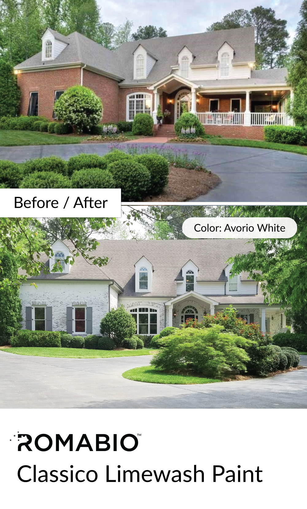 Transform your brick with an authentic whitewash finish - How to whitewash brick house exterior ...