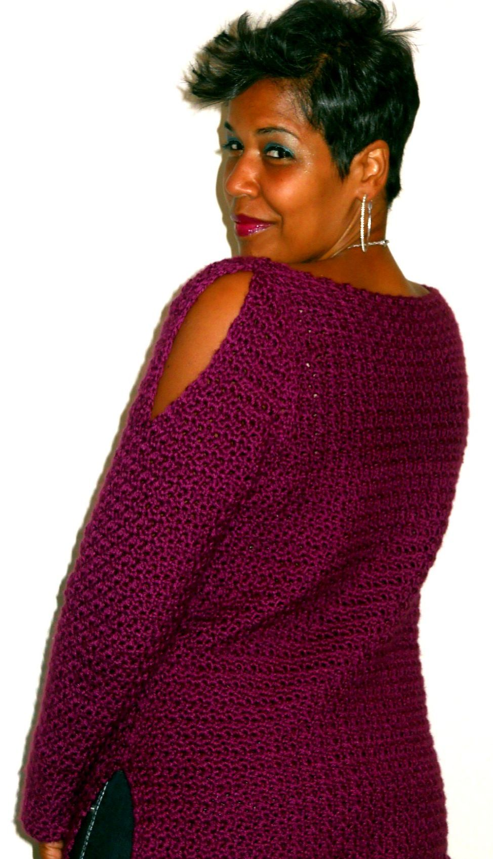 Oversized cowl neck tunic pattern by guchet crochet tunic crochet sweater pattern crochet tunic pattern easy crochet top pattern bankloansurffo Images