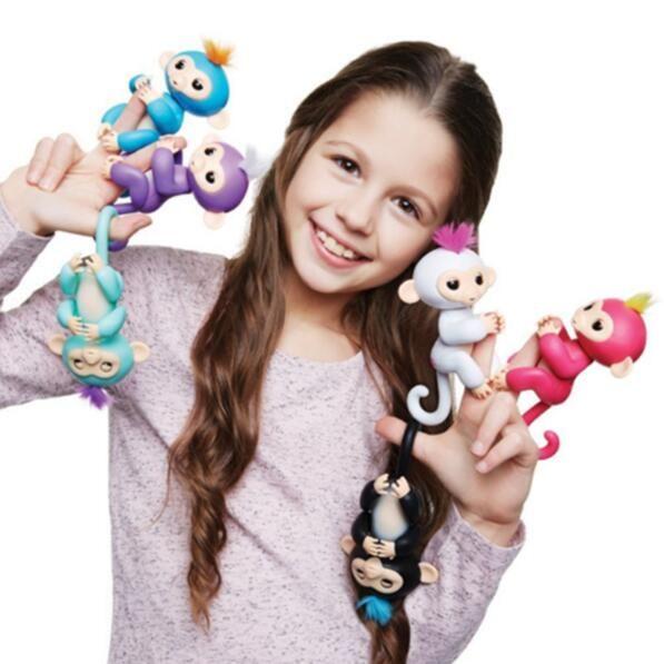alevins interactif singe enfants intelligents fingerslling lectronique animaux jouets pour enfants