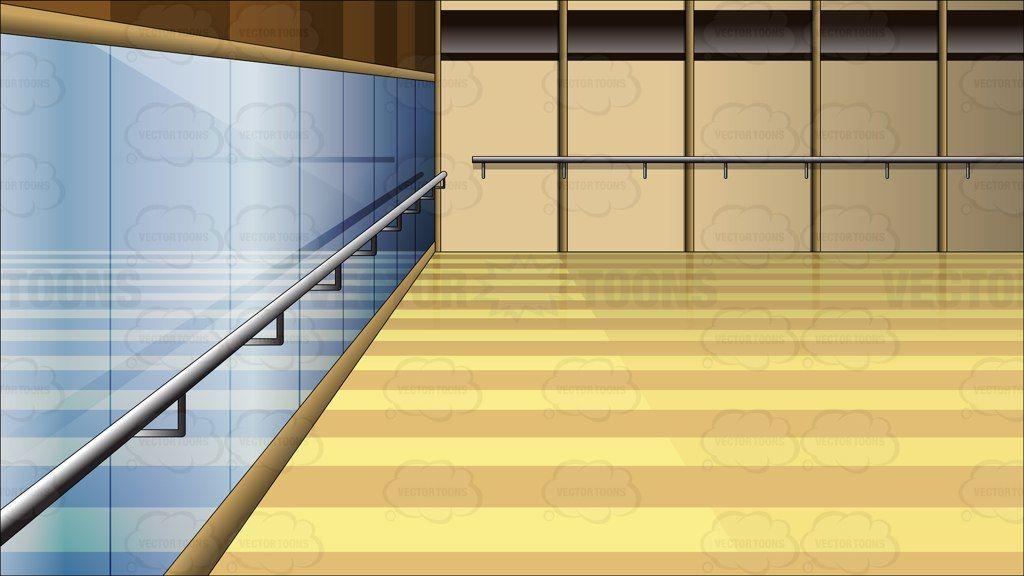 Inside A Dance Studio Back Ground Shed floor, Dance