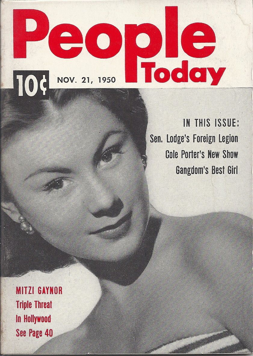 NOV 21 1950 PEOPLE TODAY MAGAZINE VOL.1 #12 (Mitzi Gaynor)