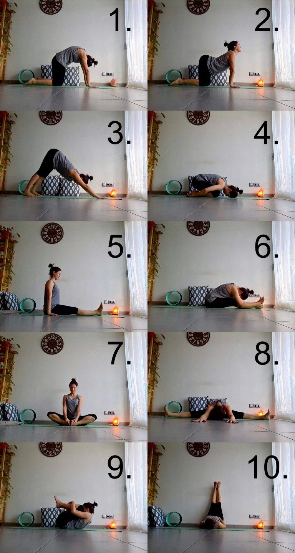 Posturas De Yoga Para Aliviar Los Síntomas De La Menstruación En 2020 Posturas De Yoga Yoga Entrenamiento De Yoga