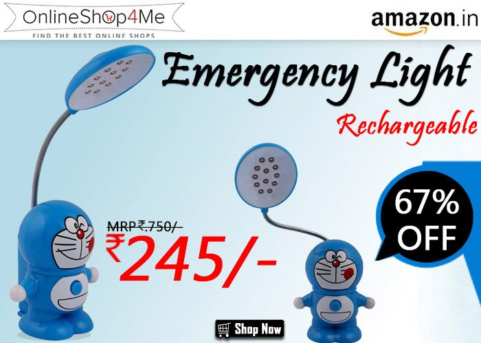 Bazaar Pirates Doraemon LED Desk Study Room Emergency Light Rechargeable Buy Now Price: Rs. 245