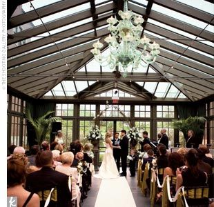 Woohoo In Michigan The Ceremony Was Performed In The Glass Conservatory O Wedding Ceremony Backdrop Indoor Michigan Wedding Venues Wedding Ceremony Backdrop