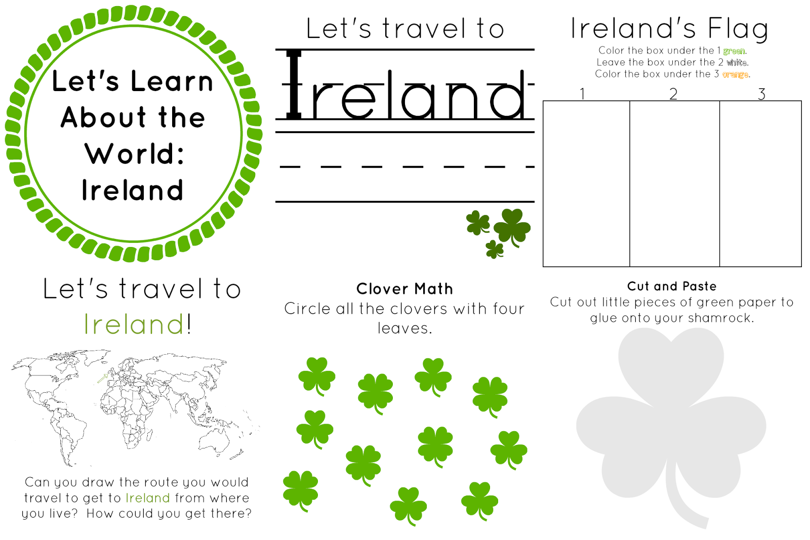 Ireland Let S Learn About The World In 2021 World Thinking Day Worksheets For Kids Preschool Worksheets [ 1067 x 1600 Pixel ]