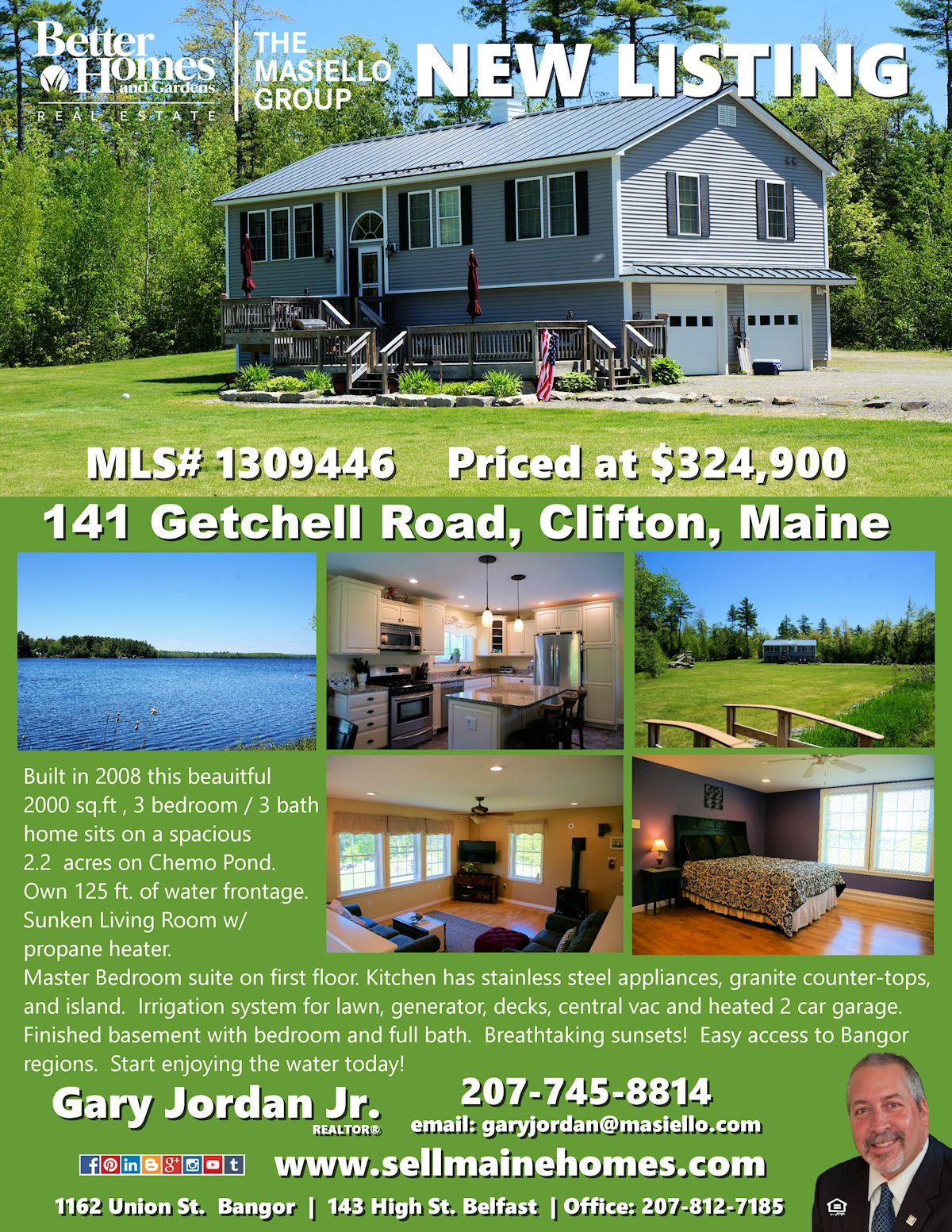 141 Getchell Rd Clifton Me 04428 Mls 1309446 Waterfront