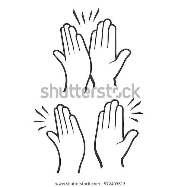 Two Hands Giving High Five Icons Stock Vector Royalty Free 572403613 Referencias
