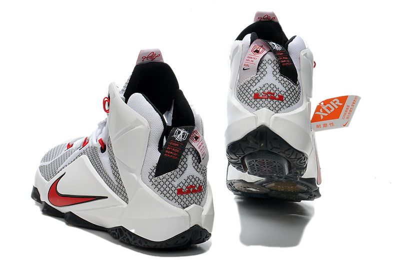 Nike LeBron 12 iD White Black Red $129.99
