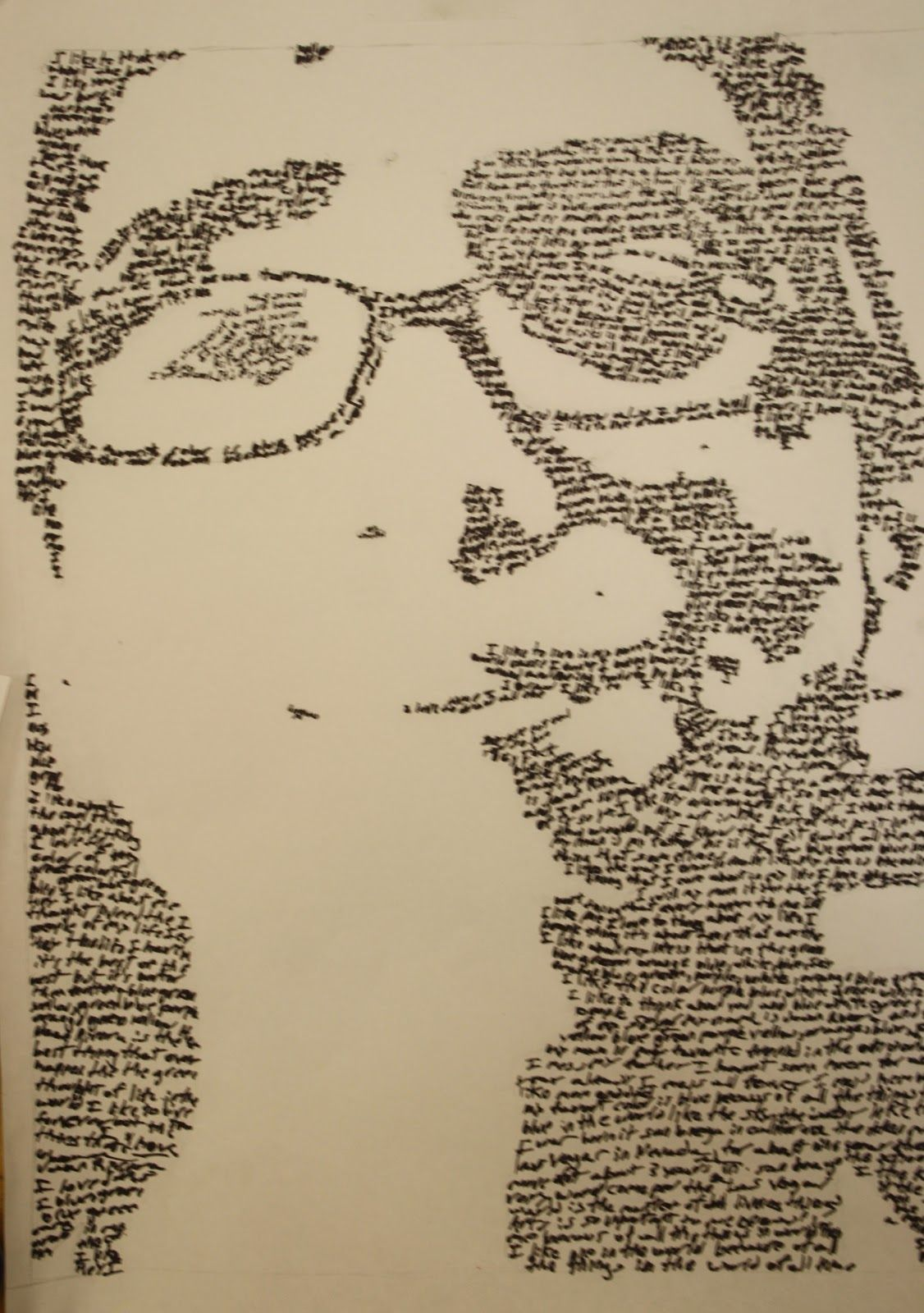 A Portrait Made Out Of Words Yep You Heard Me My 8th Grade 2d Class Made Their Portraits