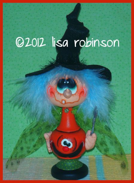 Hey, I found this really awesome Etsy listing at https://www.etsy.com/listing/110045415/hand-painted-gourd-halloween-witch-doll