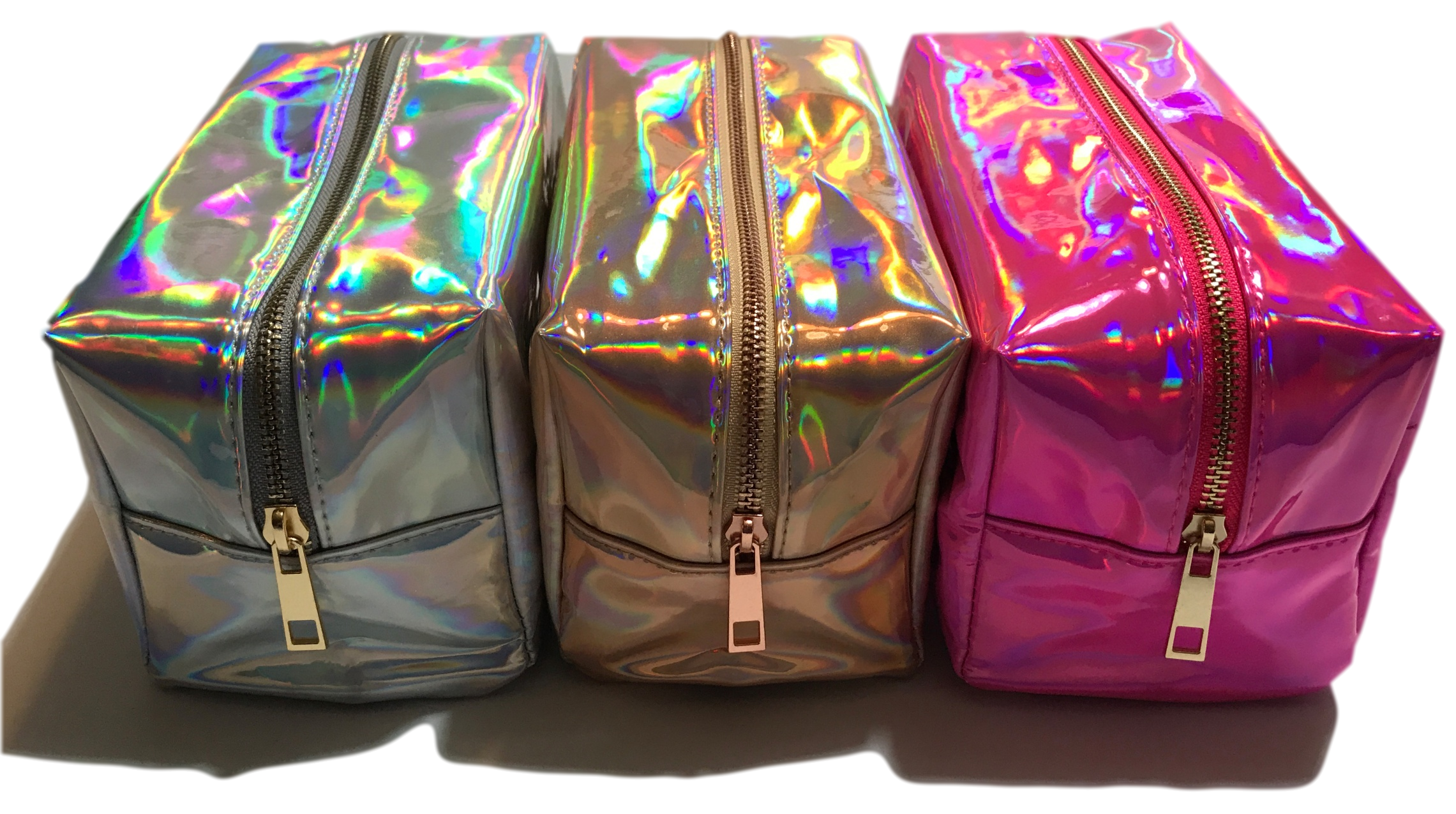Stunning Holographic Makeup Bags are here! We had these