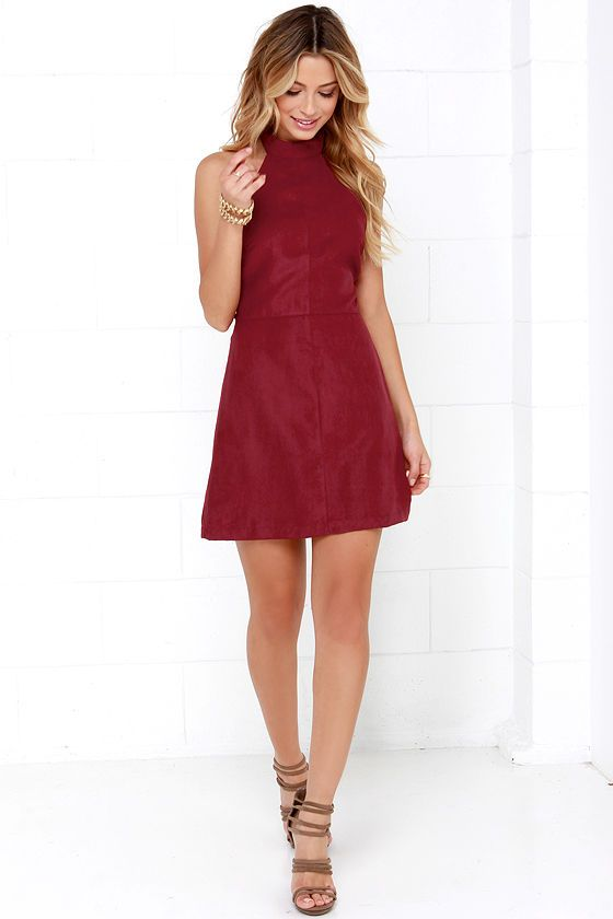 Saloon Swoon Wine Red Halter Dress | Fall fashion and Clothes