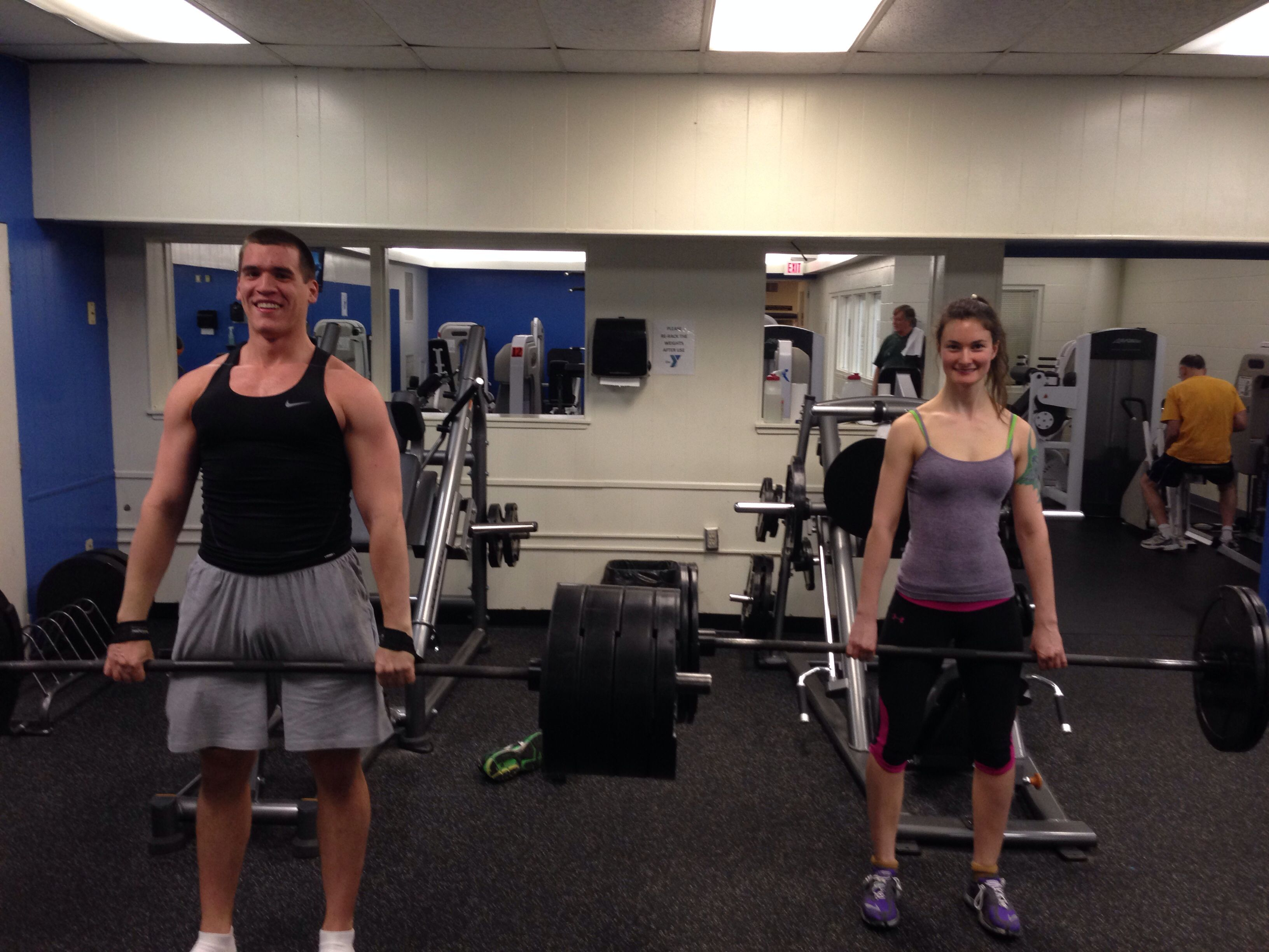 His And Hers Dead Lift Day Matt And Katie Going Ham Prana Mudra Style Ymca Westbrook Ct Style Deadlift Ymca