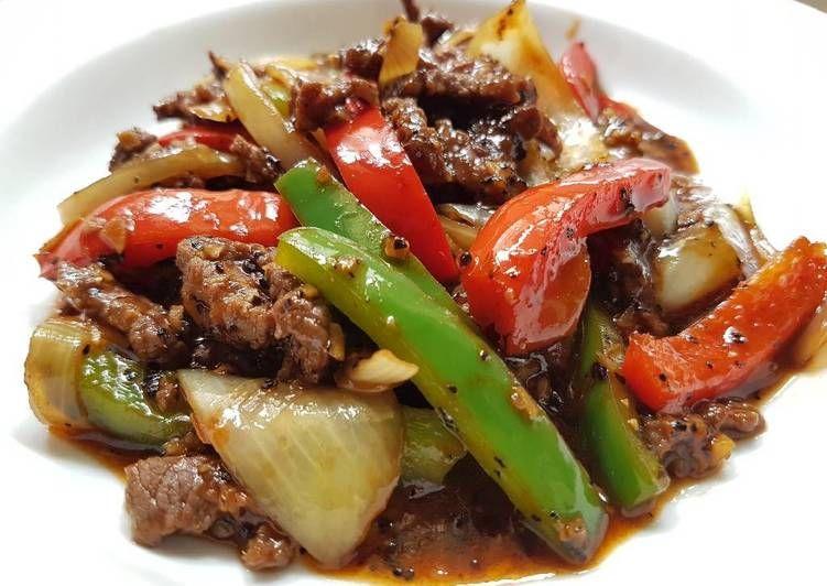 Stir Fry Beef In Black Pepper Sauce Recipe By Ikhwan Arif Recipe Pepper Steak Pepper Steak Recipe Stuffed Peppers