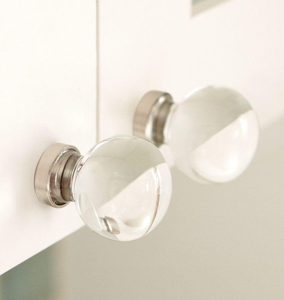 Cabinet Knob, Classic Round Glass Cabinet Knob | Item #C1104, Antique $15 |  Rejuvenation