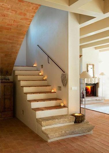 Escaleras Rusticas Stairs Pinterest Coastal Living Rooms - Escaleras-rusticas-de-interior