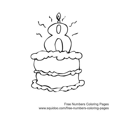 8 year girl birthday colouring pages - Coloring Pages Number Girls