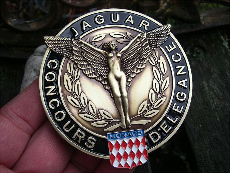 JAGUAR CONCOURS MONACO Badge Plakette - XJ 6 12 MK II X XK