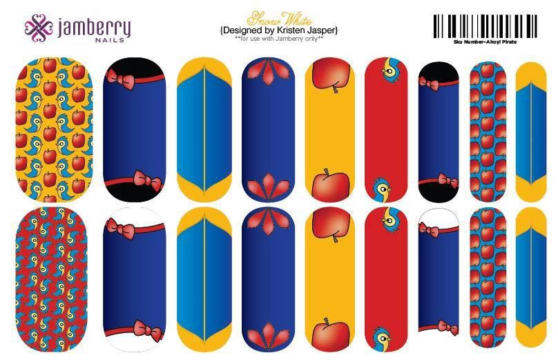 Snow White inspired nail wraps. Design your own in the Jamberry nail ...