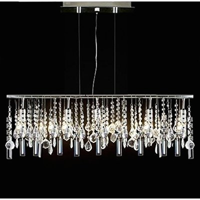 D'or Linear 5 Light Crystal Chandelier