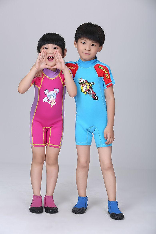 4e41a754f7 Pas cher Enfants Rash Guard manches courtes de natation combinaison de  plongée combinaison maillots de bain