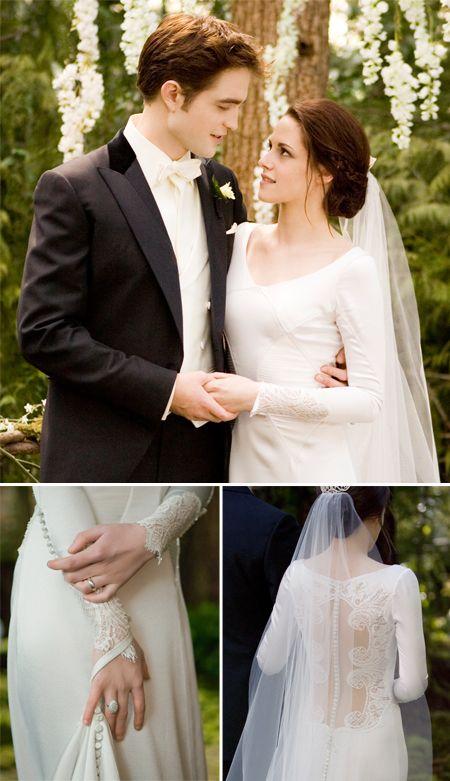 Pictures Of Kristen Stewart S Twilight Wedding Dress Revealed Bella Wedding Dress Twilight Wedding Dresses Twilight Wedding