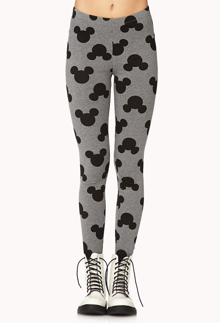 160bac77bd66f1 Mickey Mouse Printed Leggings - I'm not brave enough to wear these. Are you?