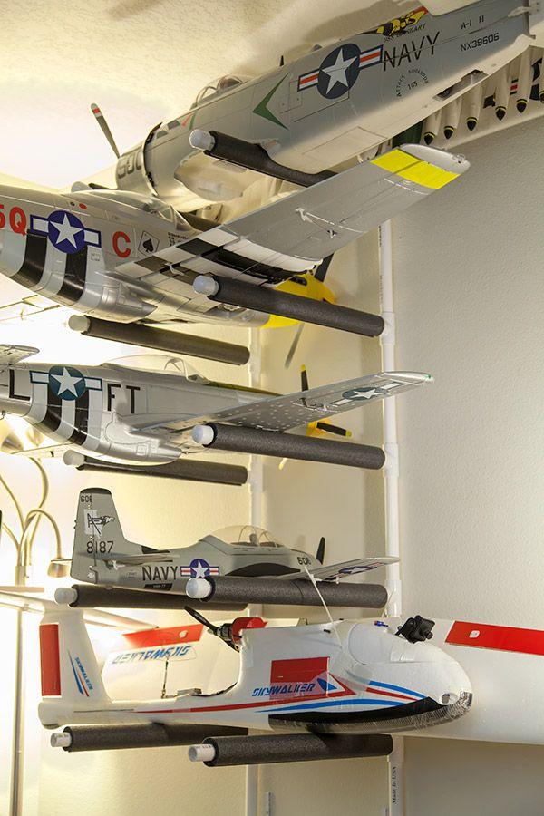 DIY RC Plane Rack with PVC | Model airplanes, Rc cars