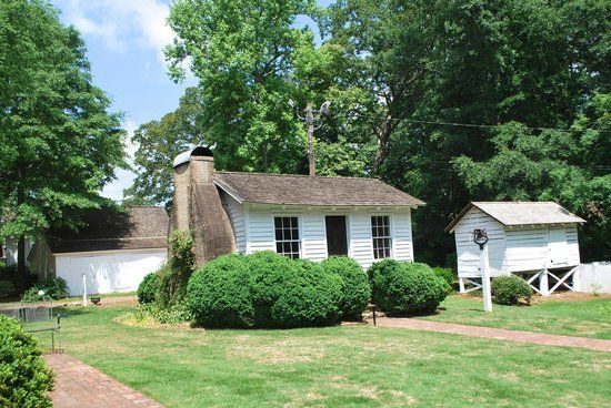 Original intact cook's house at the Archibald Smith Plantation House in Roswell, Georgia