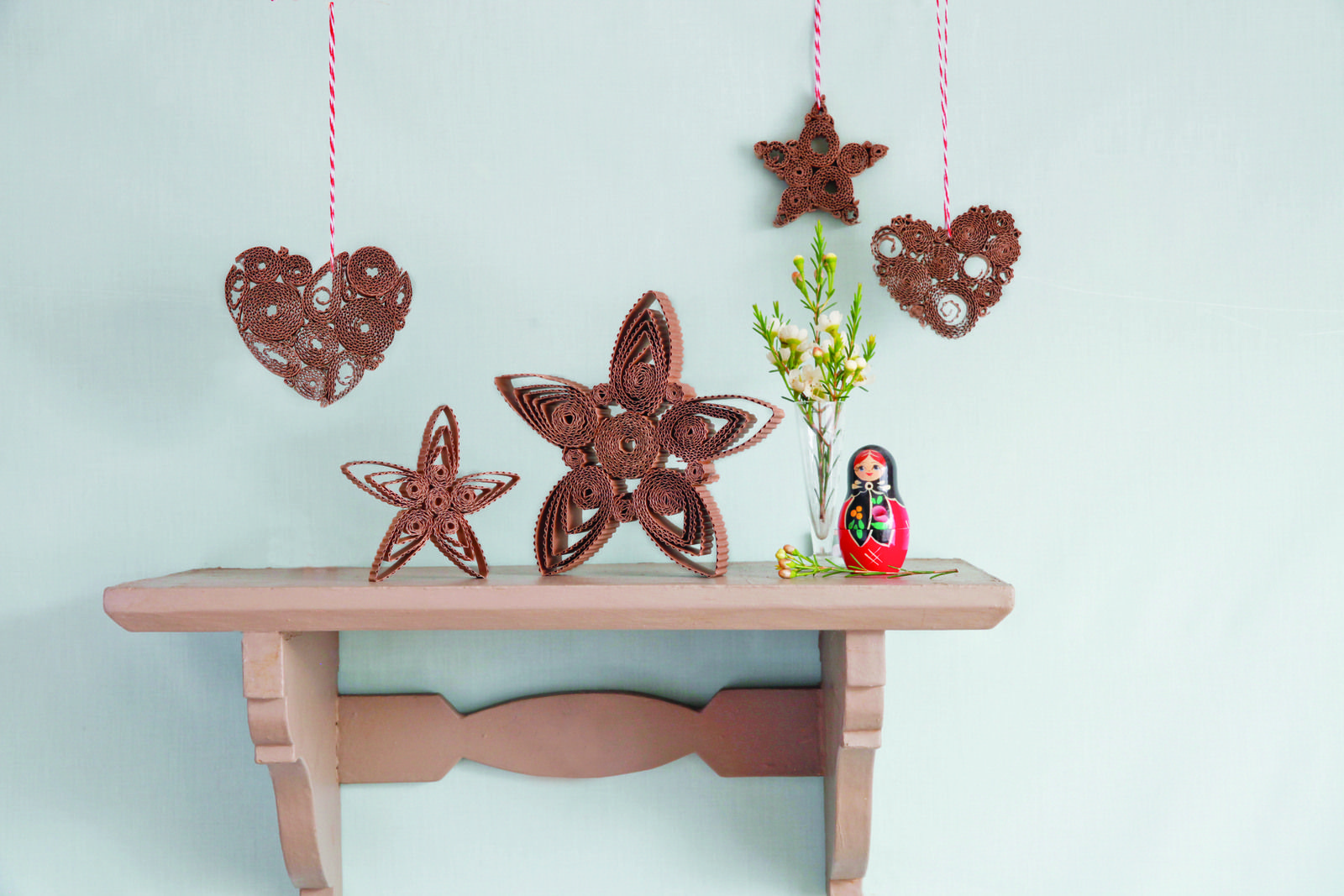 Rustic Quilled Decorations