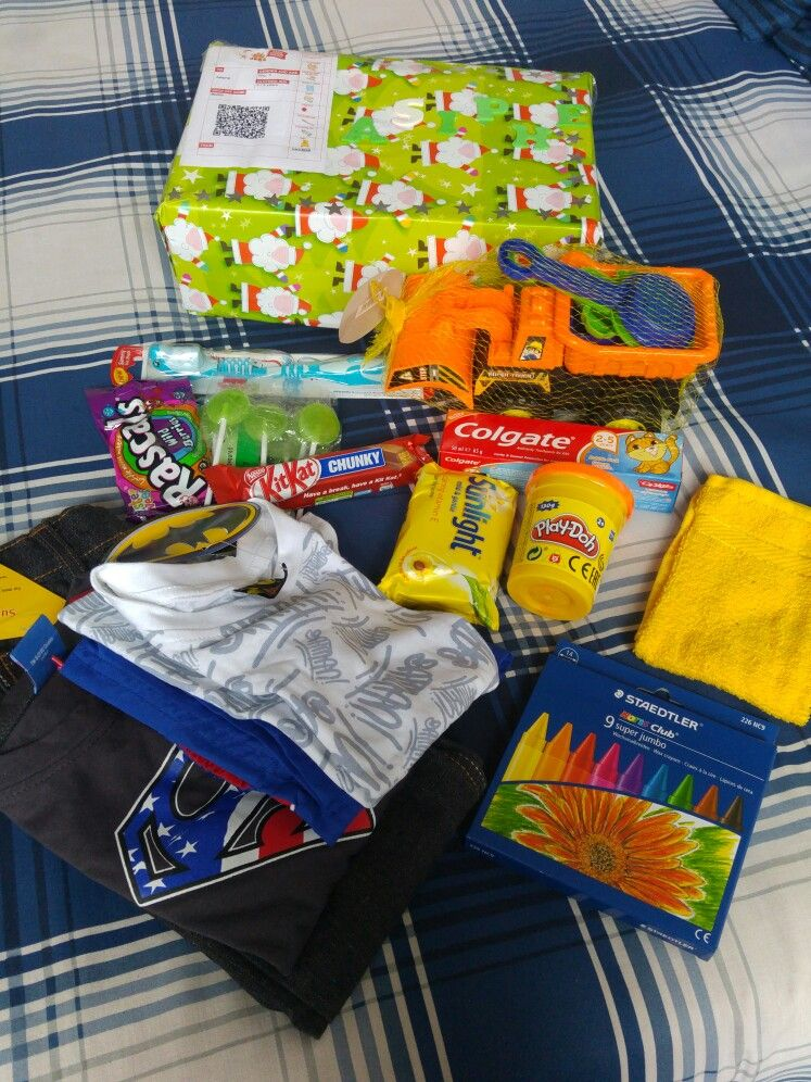 gifts for a little 3 year old boy. All ready for drop off